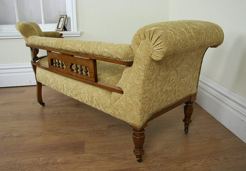 Edwardian oak double end chaise longue antiques for Chaise longue double exterieur