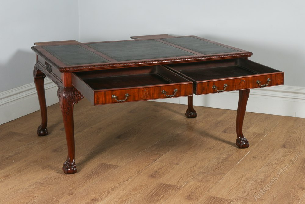 English georgian chippendale style library table for English style library