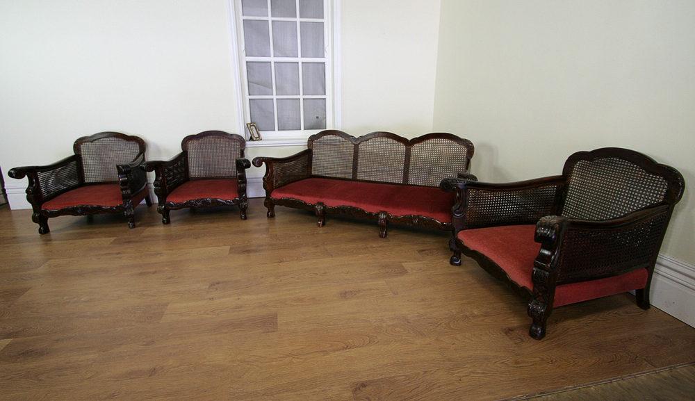 Four Piece French Bergere Lounge Suite C 1920 Antiques
