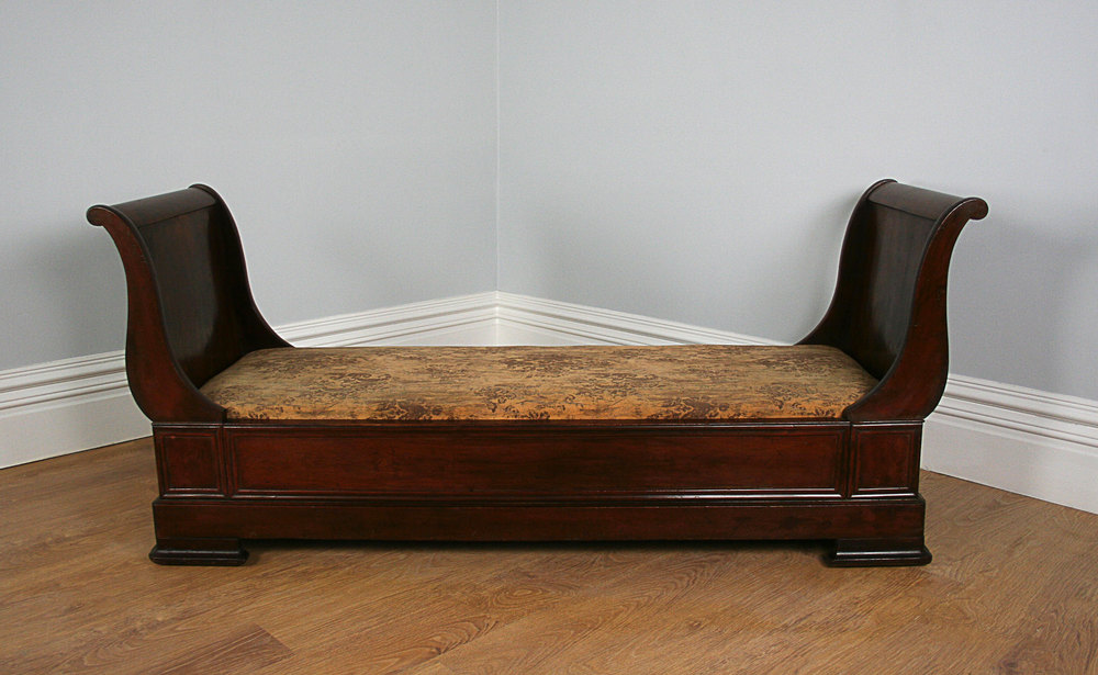 French Empire Mahogany Lit Bateau Bed C 1840 Antiques