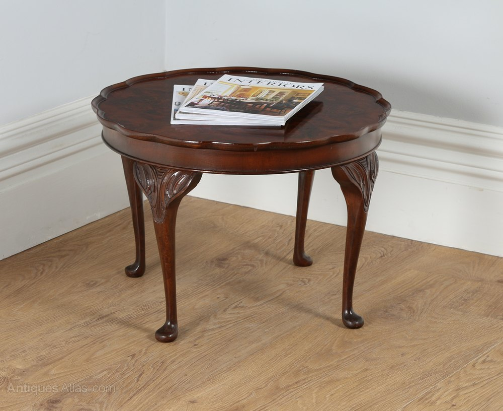 Antiques Atlas Queen Anne Style Burr Walnut Circular Coffee Table