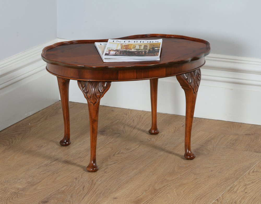 Queen Anne Style Kidney Shaped Coffee Table Antiques Atlas