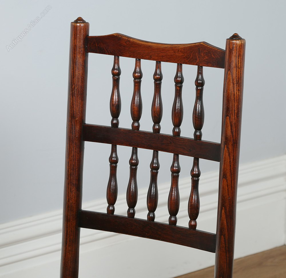 Set Of 8 Ash Elm Spindle Back Dining Chairs Antiques Atlas