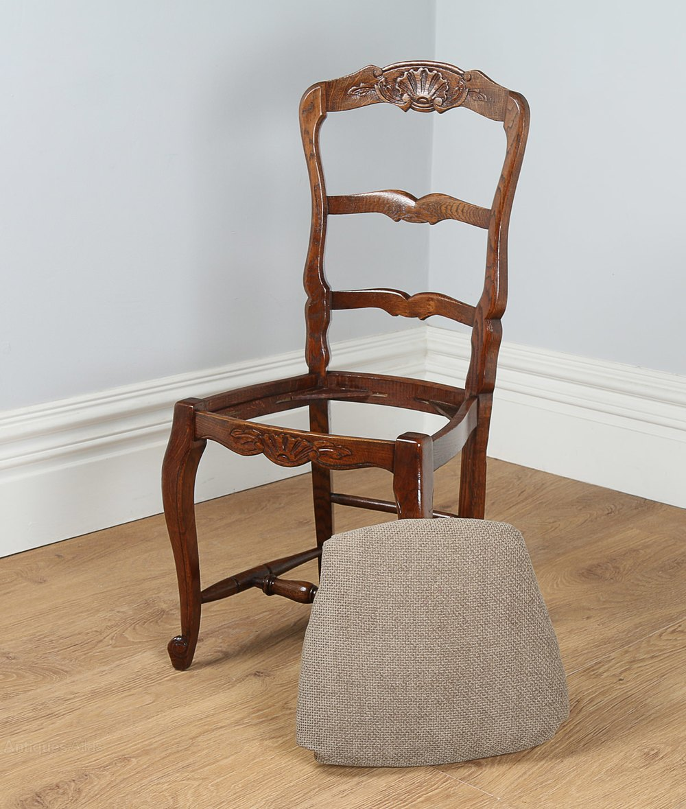 8 French Oak Ladder Back Kitchen Dining Chairs Antiques Atlas