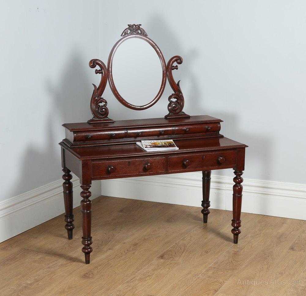 Victorian colonial teak dressing table mirror antiques for Dressing table mirror