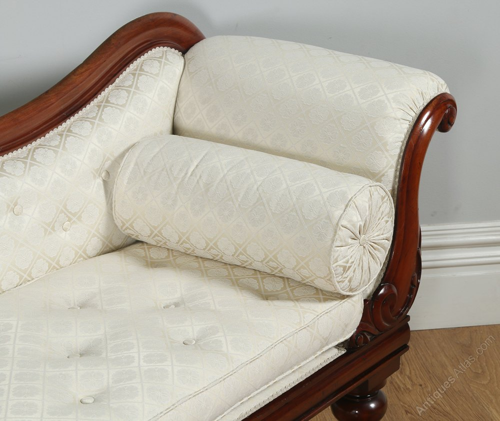 Victorian mahogany upholstered chaise longue antiques atlas for Chaise longue antique