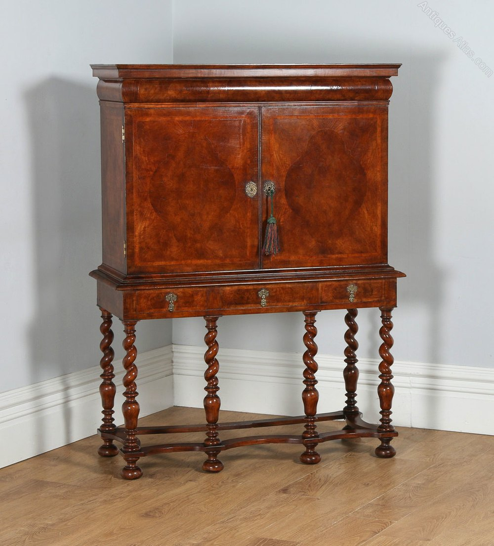 Antiques Atlas William Amp Mary Style Walnut Cabinet On Stand