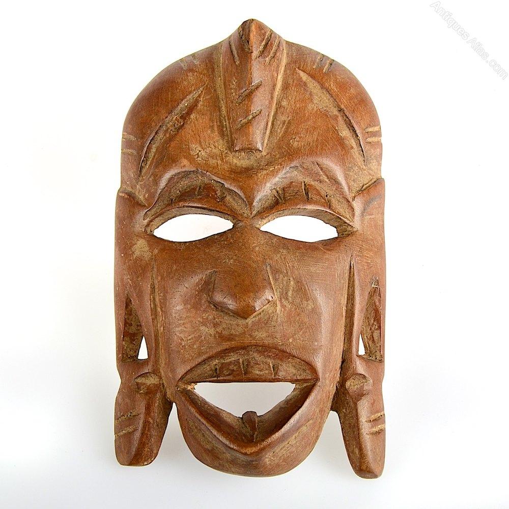 Antiques Atlas African Kenyan Wooden Mask