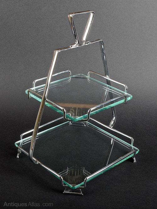 Art Deco Chrome Cake Stand