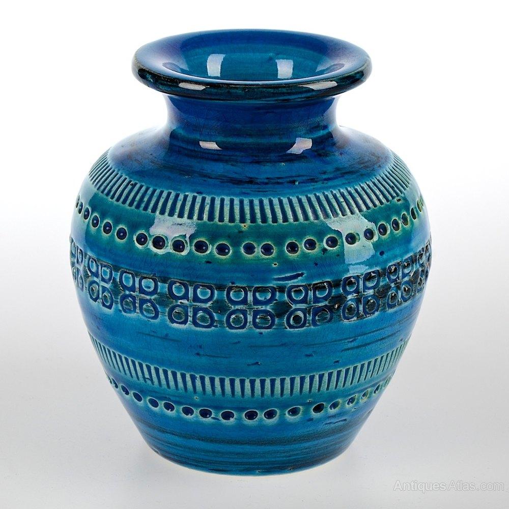 Antiques Atlas Bitossi Aldo Londi Rimini Blue Ceramic Vase