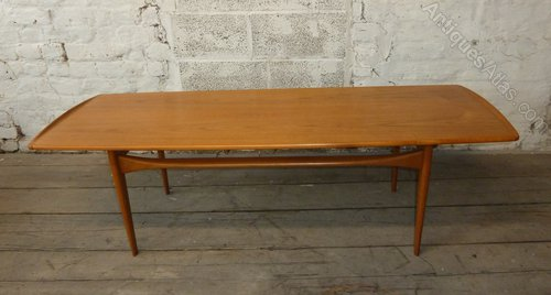 Danish Teak Coffee Table France And Son 1958 Midcentury Retro Vintage Tables