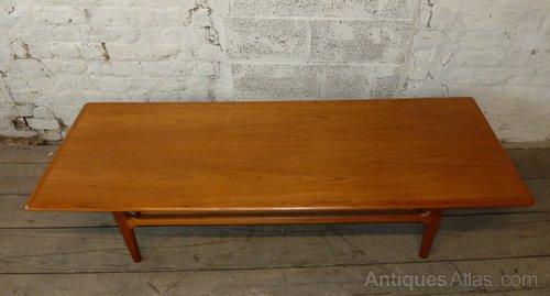 90a7128478 Antiques Atlas - Danish Teak Coffee Table With Cane Magazine Rack