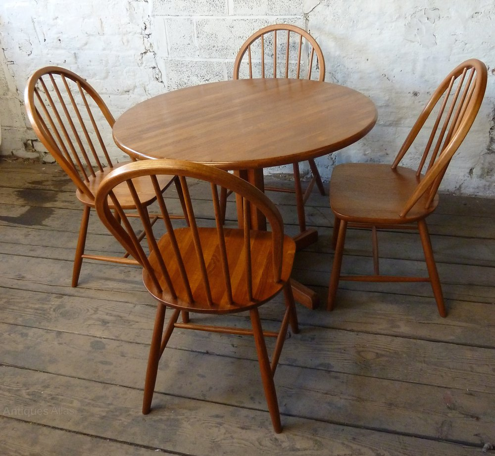 Antiques Atlas - Danish Teak Round Dining Kitchen Table 4 ...