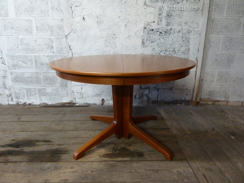 Genial Danish Teak Round And Extending Dining Table ...