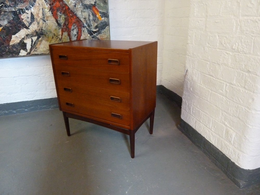 Antiques Atlas Danish Teak Small Chest Of Drawers By