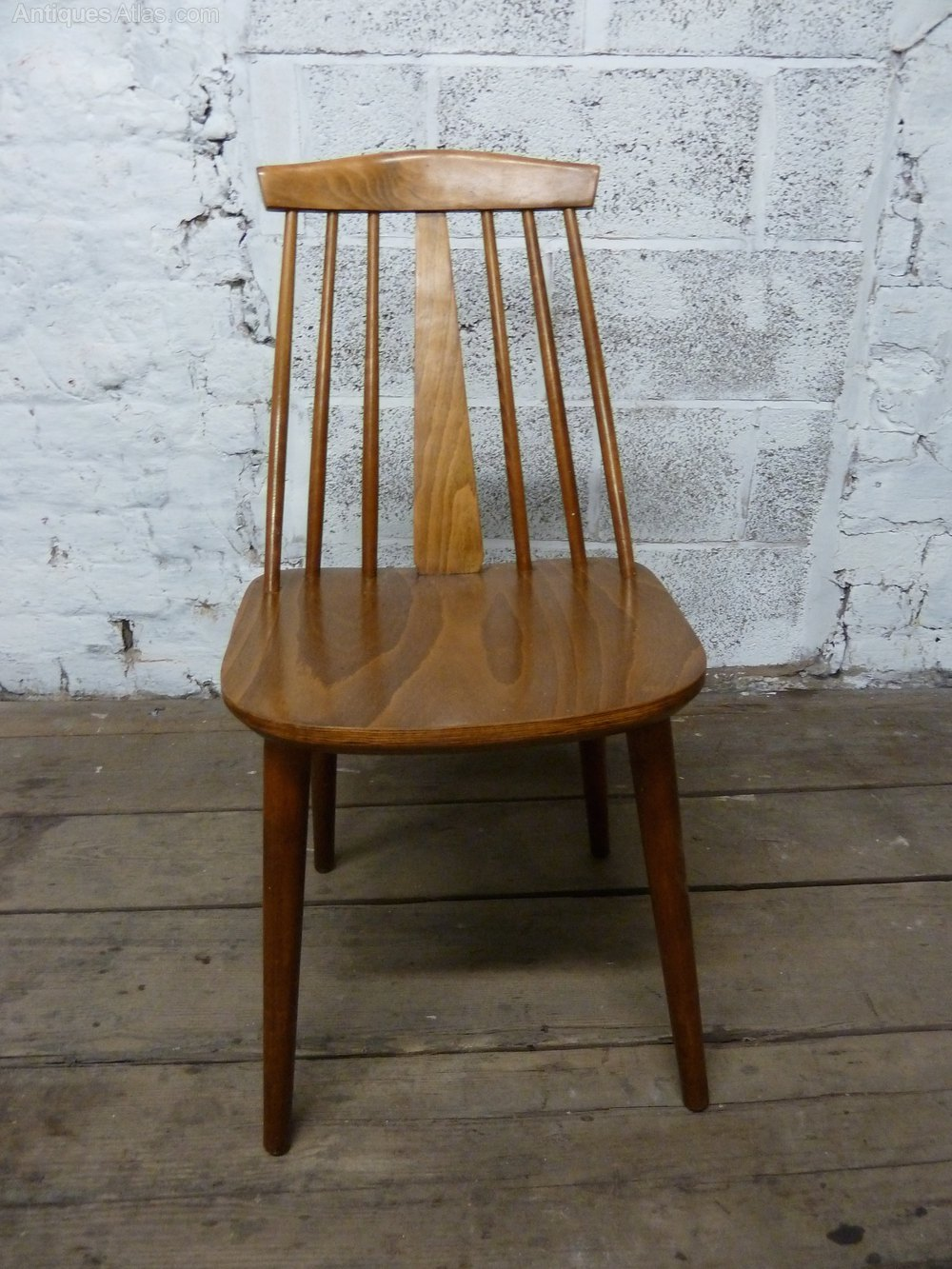 Mid Century Danish Stick Back Chair 1950s Chairs ...