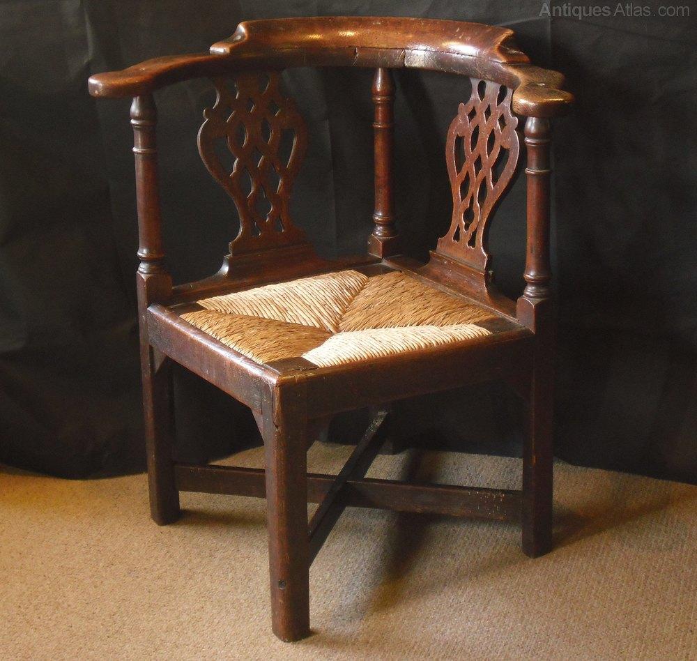 George II Oak Corner Chair Antique Corner Chairs - George II Oak Corner Chair - Antiques Atlas
