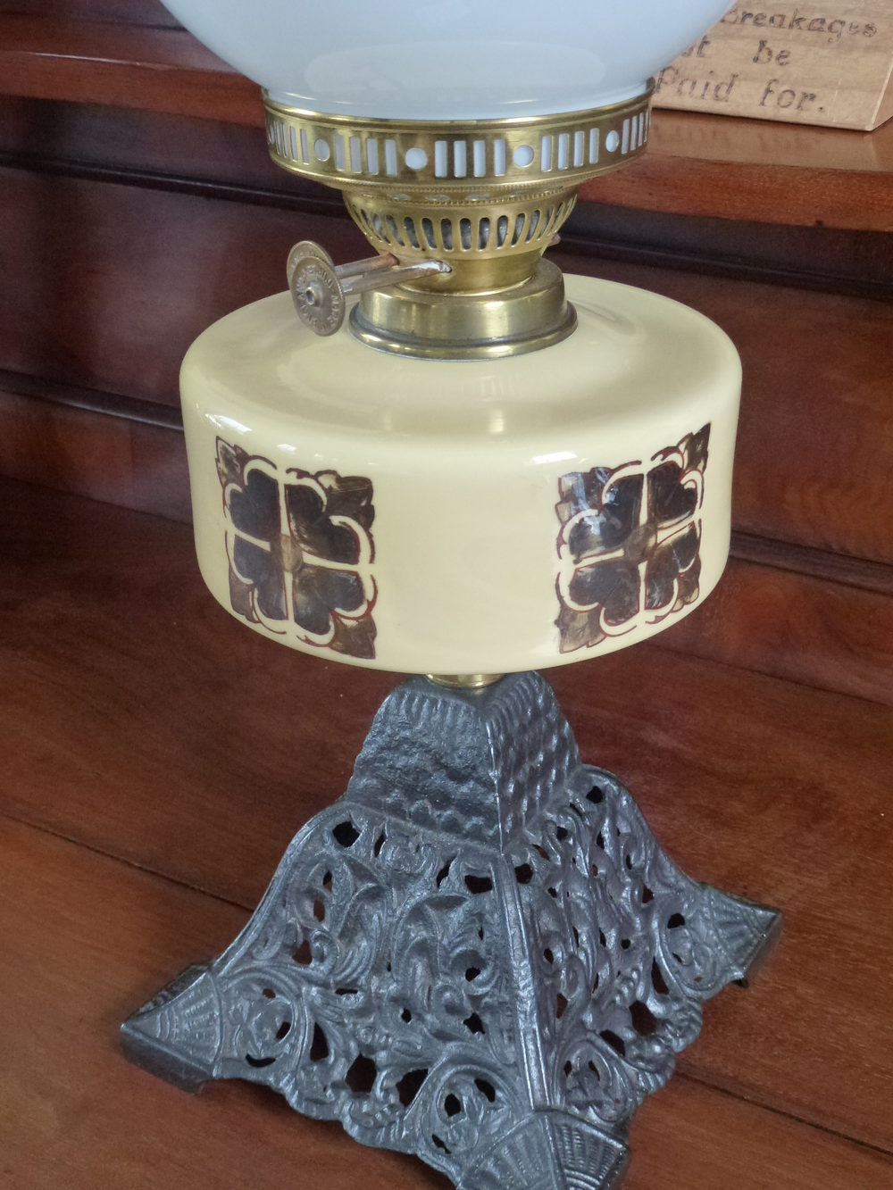 Antiques Atlas - Antique Duplex Oil Lamp