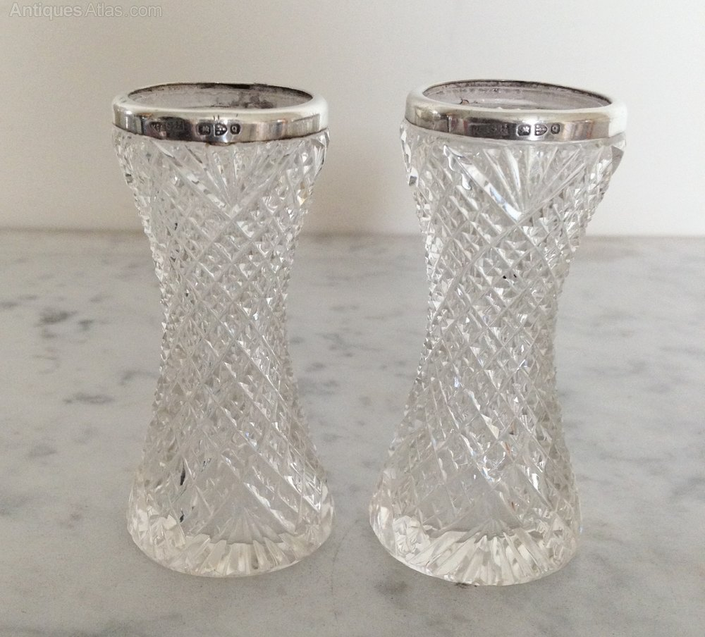 Antiques atlas cut glass vases silver rims cut glass vases silver rims reviewsmspy