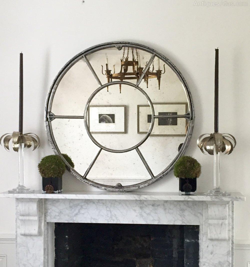 Architectural Panelled Circular Window Mirror