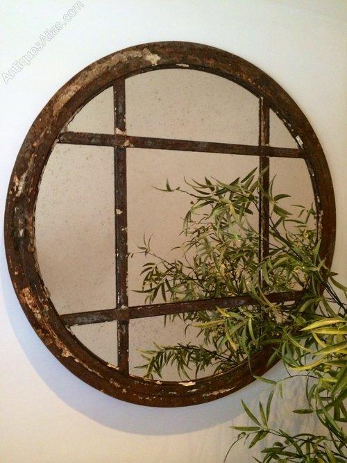 Antiques Atlas Circular Rustic Reclaimed Window Mirror