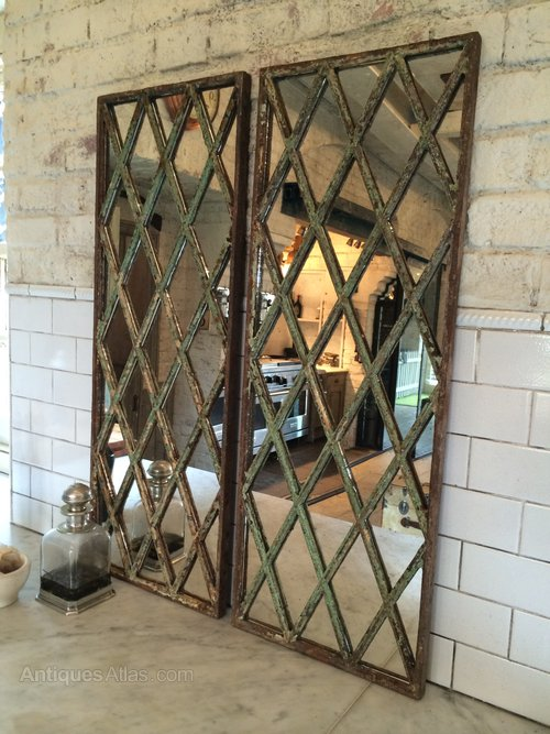 Antiques Atlas Harlequin Style Antique Window Frame Mirror