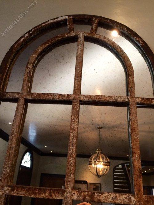 Antiques Atlas Slim Arch Architectural Rustic Window Mirrors