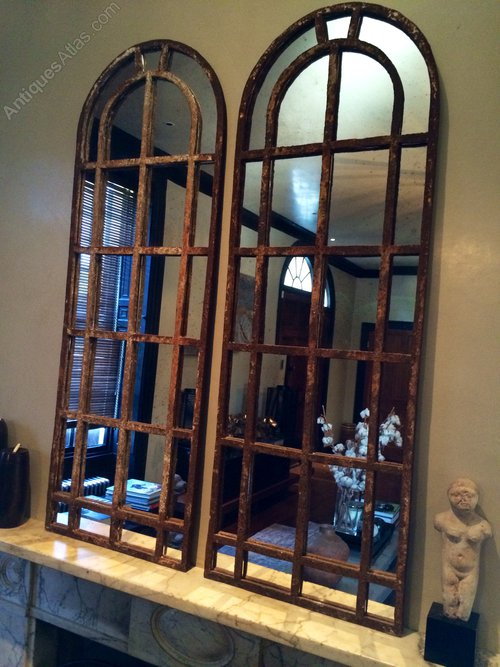 Antiques Atlas Slim Arch Architectural Rustic Window Mirrors