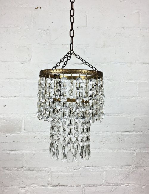 Vintage Modern Crystal Mini Chandelier