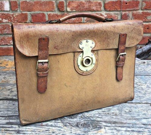 fa7f6338115d Antiques Atlas - Vintage Leather Attache Case