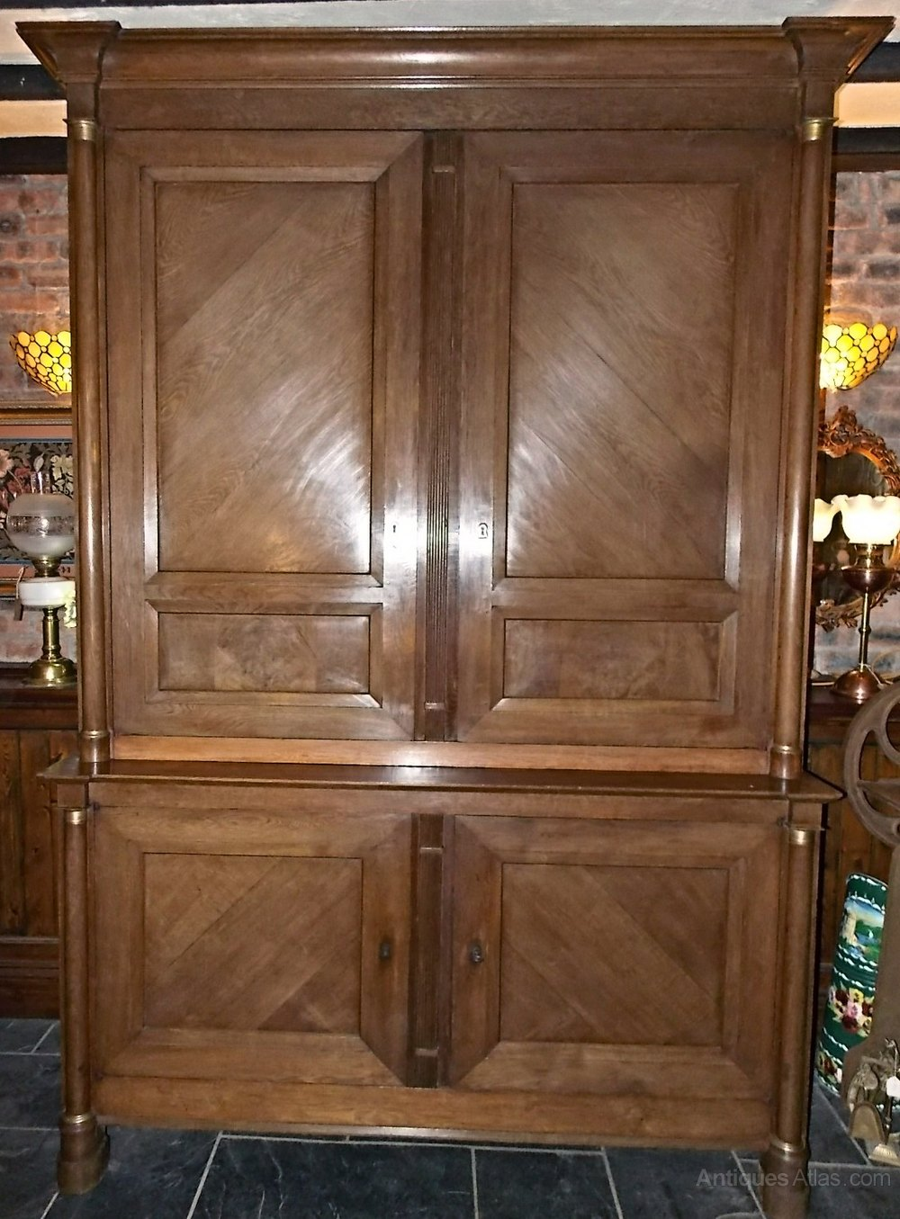 Antique Victorian French Housekeepers Cupboard Antiques