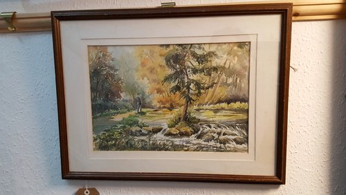 Beresford Dale Watercolour, Catherine Pell 1973