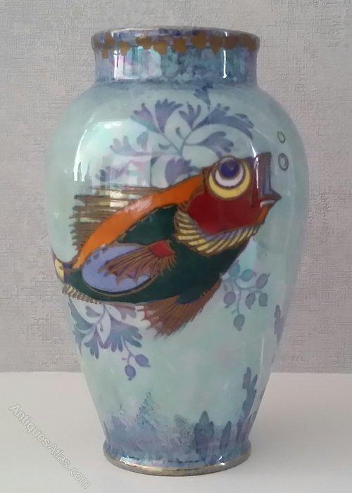 Charlotte Rhead Bursley Ware Vase c.1925 Pat. 878