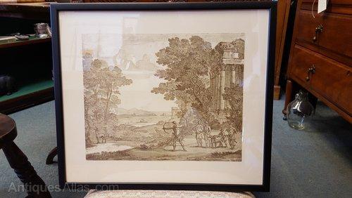 Drawing Signed Claudio 1682 Libro Virgilio
