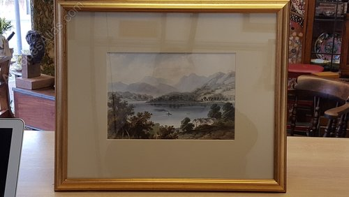 Lake Windermere Watercolour, G.M. Coventry 1914