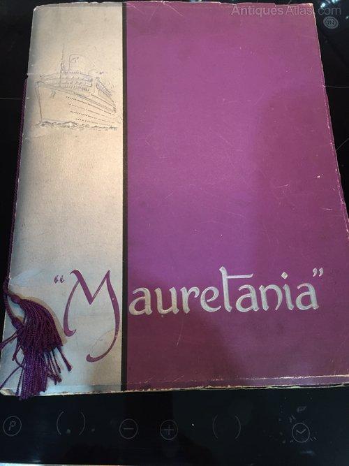 Launch Brochure RMS Mauretania Cunard White Star