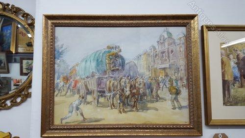 London Scene Watercolour by M.F. Hamlyn