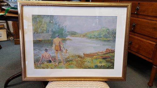 Martin Frederick Hamlyn Framed Water Colour