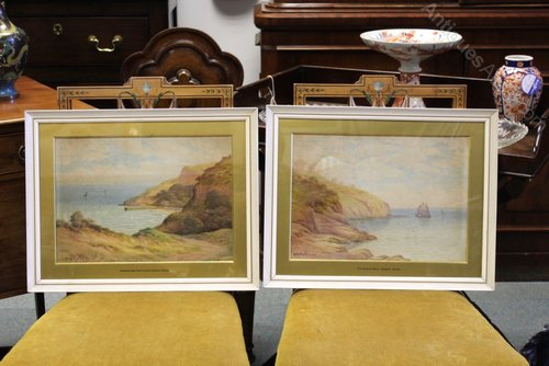 Pair of Signed George Oyston Landscapes