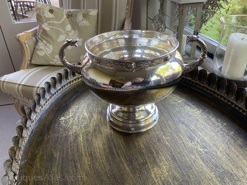 Stunning Irish Solid Silver Pedestal Bowl c1922