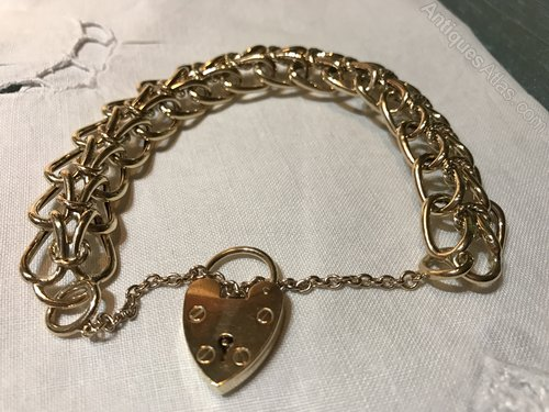 Unusual Victorian 9ct Gold bracelet