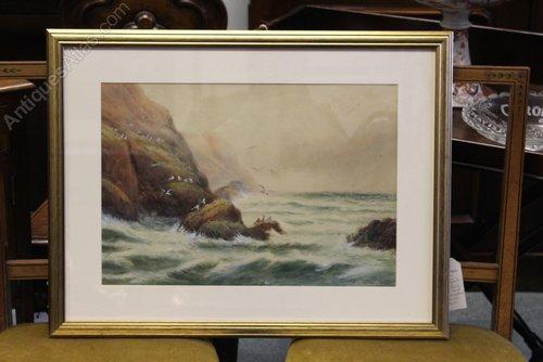 Whitby & Scarborough, J.W. Williams Watercolour