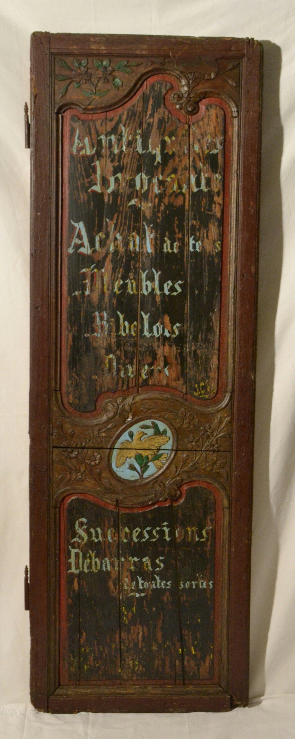 Antiques Atlas Distressed Looking Advertising Door Panel