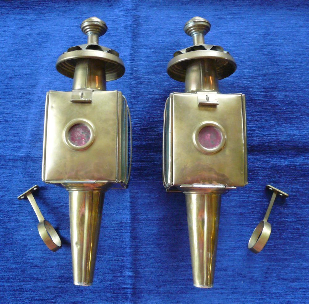 Vintage Br Carriage Lamps Antique Lighting