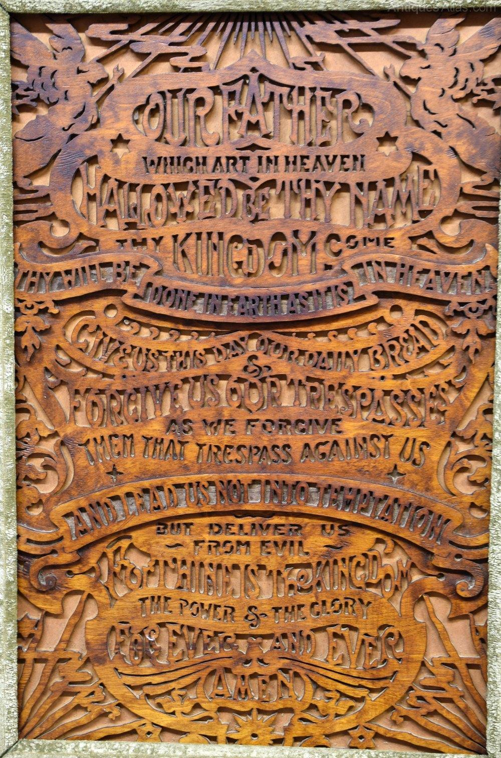antiques atlas the lord u0027s prayer fretwork panel victorian frame