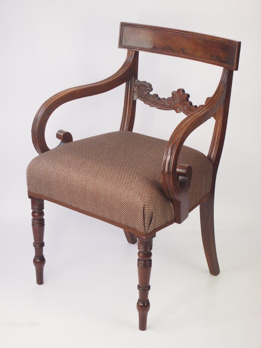 Antique regency mahogany desk chair antiques atlas for Antique office chair
