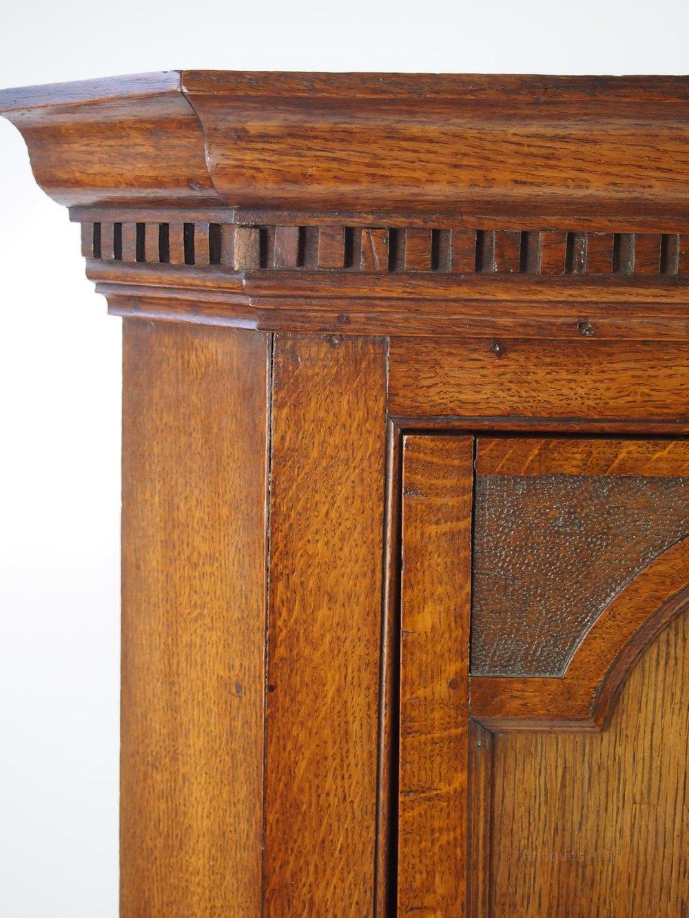 Antique Victorian Oak Corner Cupboard Cabinet Antiques Atlas