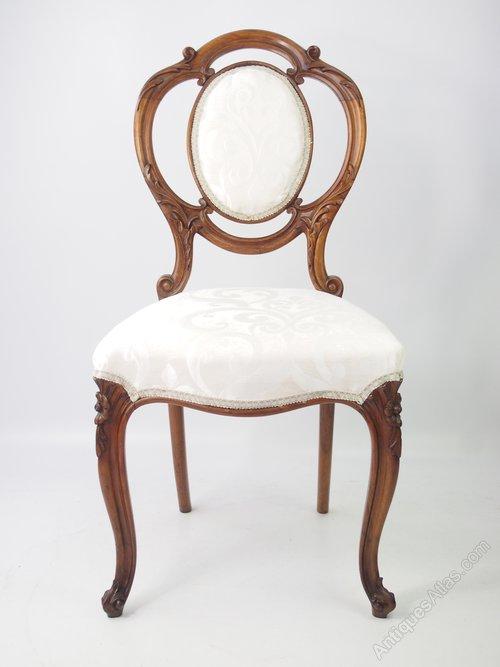 Antique Victorian Walnut Balloon Chair - Antique Victorian Walnut Balloon Chair - Antiques Atlas