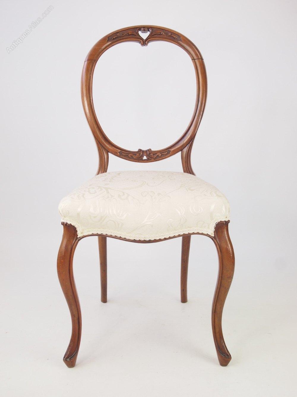 Antique Victorian Walnut Balloon Back Chair ... - Antique Victorian Walnut Balloon Back Chair - Antiques Atlas