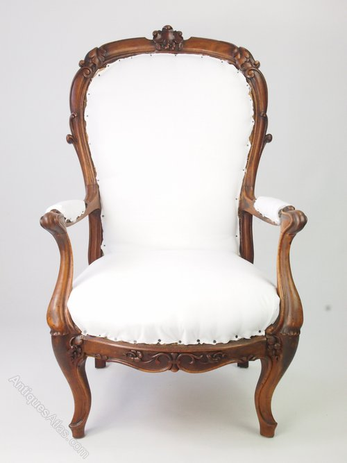 Antqiue Victorian Armchair Balloon Back Chair
